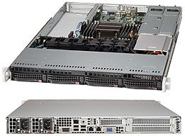 Supermicro 815TQ-R500WB black, 1U, 500W redundant
