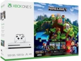 Microsoft Xbox One S - 500GB Minecraft Complete Adventure Bundle weiß