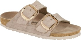 Birkenstock Arizona Big Buckle Veloursleder washed metallic rose gold (Damen) (1012881/1012882)