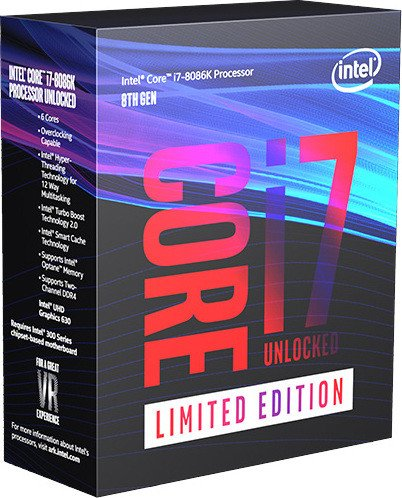 Intel Core i7-8086K Limited Edition, 6x 4.00GHz, boxed ohne Kühler (BX80684I78086K)