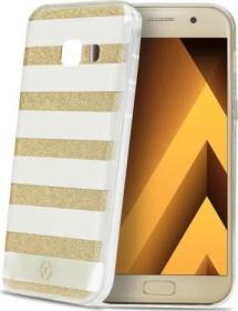 Celly Stripes für Samsung Galaxy A5 (2017) gold (STRIPES645GD)