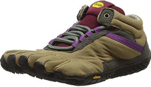 Vibram FiveFingers Damen Trek Ascent Insulated Outdoor Fitnessschuhe, Mehrfarbig (Khaki/Grape), 41 EU