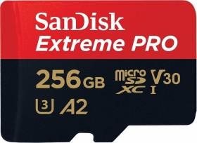 SanDisk Extreme PRO R170/W90 microSDXC 256GB Kit, UHS-I U3, A2, Class 10 (SDSQXCZ-256G-GN6MA)