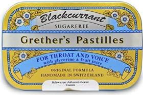 Grether's pastilles Blackcurrant sugar free, 440g