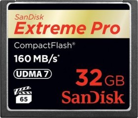 SanDisk Extreme PRO R160/W150 CompactFlash Card 32GB (SDCFXPS-032G-X46)