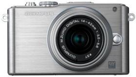 Olympus PEN E-PL3 silber mit Objektiv M.Zuiko digital ED 12-50mm (V20503FSE000)