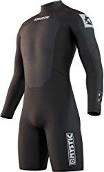 Mystic fire Back Zip Shorty 3/2mm wetsuit black (men) (35400-180055-900)