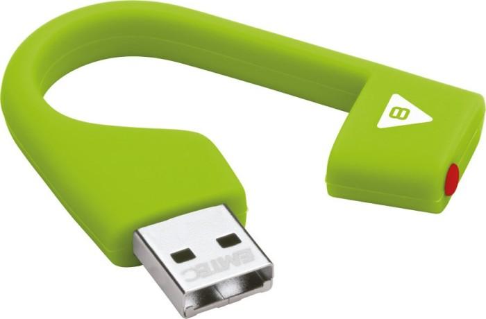 Emtec D200 Hang 8GB, USB-A 2.0 grün (ECMMD8GD202)