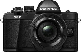 Olympus OM-D E-M10 Mark II schwarz mit Objektiv M.Zuiko digital 14-42mm EZ (V207052BE000)