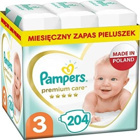 Pampers Premium Protection Gr.3 disposable nappy, 5-9kg, 204 pieces