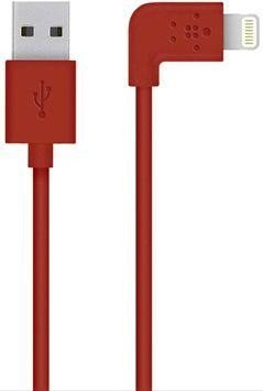Belkin Lightning/USB Adapterkabel gewinkelt 1.2m rot (F8J147BT04-RED)