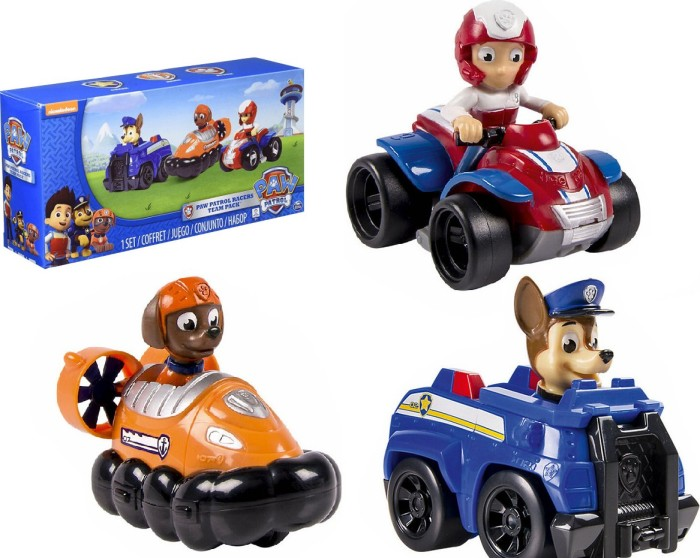 Spin Master Paw Patrol Rescue Racers Set: Chase, Zuma, Ryder (6024059)