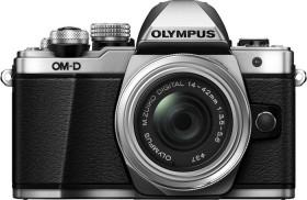 Olympus OM-D E-M10 Mark II silber mit Objektiv M.Zuiko digital 14-42mm EZ (V207052SE000)