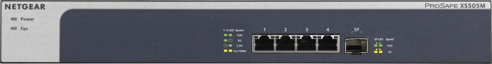 Netgear ProSAFE XS500M Desktop 10G Switch, 4x RJ-45, 1x SFP+ (XS505M-100)