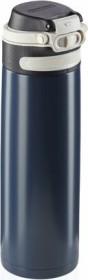 Leifheit Isolierbecher Flip 600ml dunkelblau Trinkflasche (03275)