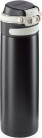 Leifheit Isolierbecher Flip 600ml schwarz Trinkflasche (03271)