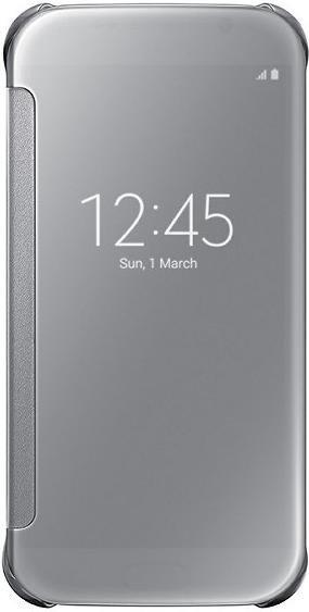 Samsung Clear View Cover für Galaxy S6 silber (EF-ZG920BSEGWW)