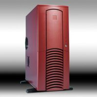 Chieftec Dragon DX-01BND-U Midi-Tower with door and USB/FireWire-front auburn (without power supply) -- © CWsoft