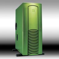 Chieftec Dragon DX-01GND-U Midi-Tower with door and USB/FireWire-front green (without power supply) -- © CWsoft