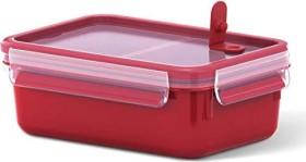 Emsa Clip&Micro rechteckig 1l Aufbewahrungsbehälter mit Einsätzen rot (517774)