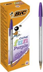 BIC Cristal fun, 0.6mm purple, 20-pack (929055)