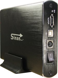 "Inter-Tech SinanPower G-3500 black, 3.5"", USB 2.0/eSATA (88884043)"