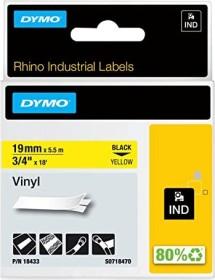Dymo ID1 Industrial Rhino Pro labelling tape 19mm, black/yellow (18433 / S0718470)