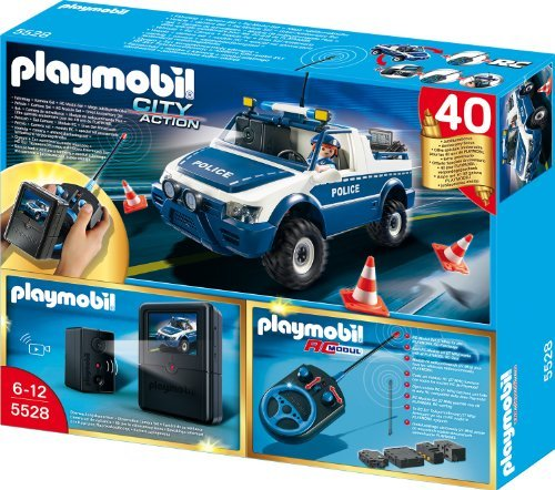 playmobil city action rc polizeiauto mit kamera set ab. Black Bedroom Furniture Sets. Home Design Ideas