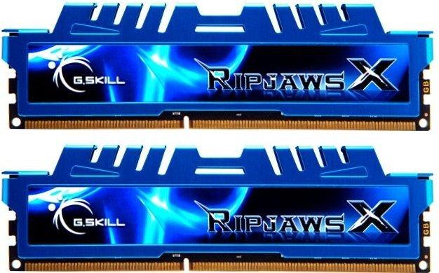 G.Skill RipJawsX blau DIMM Kit 16GB, DDR3-1866, CL9-10-9-28 (F3-1866C9D-16GXM)