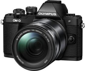 Olympus OM-D E-M10 Mark II schwarz mit Objektiv M.Zuiko digital ED 14-150mm II (V207054BE000)