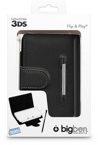 BigBen Flip & Play Protector for Nintendo 3DS, black (DS)