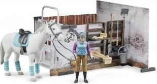 bruder bworld Pferdestall Spielzeugautos Spielgebäude