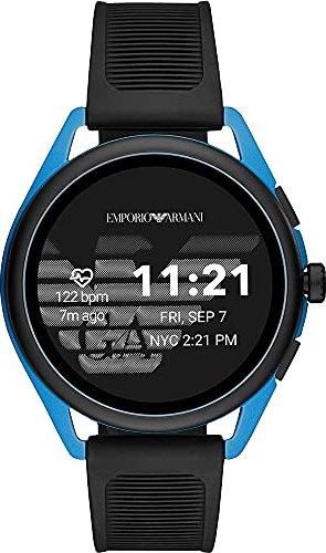 Emporio Armani Connected Smartwatch 3 mit Kunststoffarmband schwarz/blau (ART5024) -- via Amazon Partnerprogramm