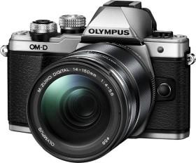 Olympus OM-D E-M10 Mark II silber mit Objektiv M.Zuiko digital ED 14-150mm II (V207054BSE000)