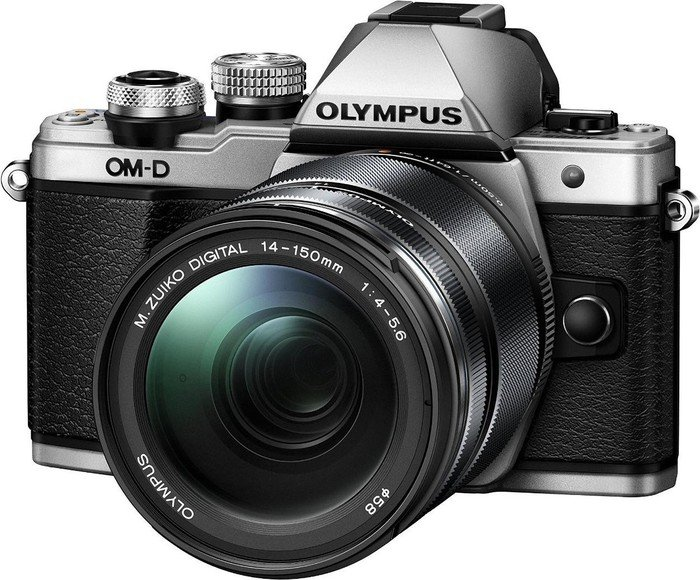 Olympus OM-D E-M10 Mark II silver with lens M.Zuiko digital ED 14-150mm II (V207054BSE000)