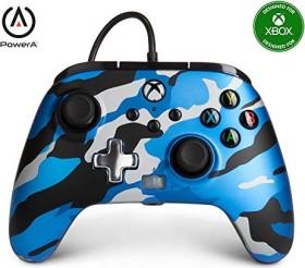 PowerA Enhanced Wired Controller metallic blue camo (Xbox SX)