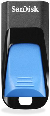 SanDisk Cruzer Edge black/blue 8GB, USB 2.0 (SDCZ51E-008G-B35B)