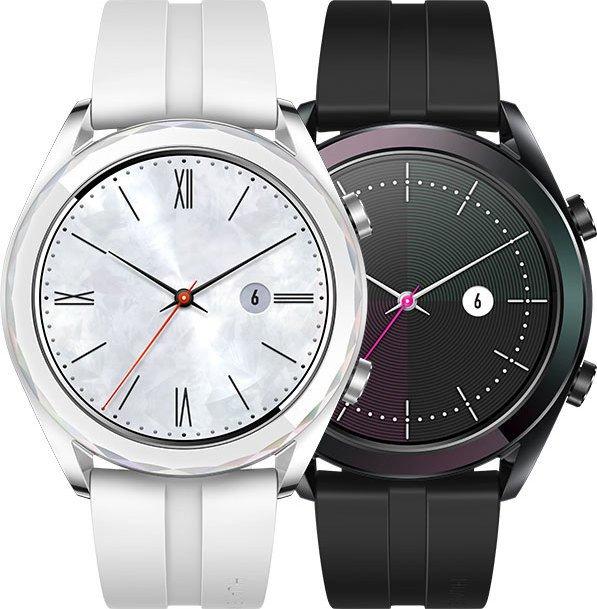 Huawei Watch GT Elegant silber mit Silikonarmband weiß (55023877)