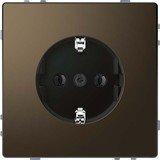 Merten System Design SCHUKO-Steckdose, moccametallic (MEG2301-6052)