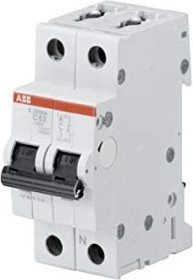 ABB Sicherungsautomat S200, 2P, C, 25A (S201-C25NA)