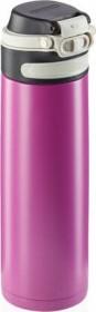 Leifheit Isolierbecher Flip 600ml violett Trinkflasche (03274)