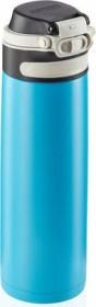 Leifheit Isolierbecher Flip 600ml hellblau Trinkflasche (03276)