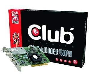 Club 3D All-In-Wonder Radeon 9600 Pro, 128MB DDR, DVI, ViVo, TV-Tuner, AGP (CGA-AIW96)