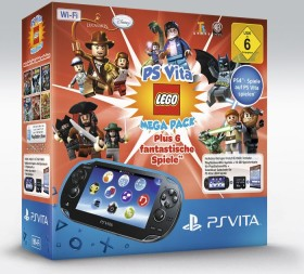 Sony PlayStation Vita Wi-Fi Mega Pack Bundle LEGO schwarz