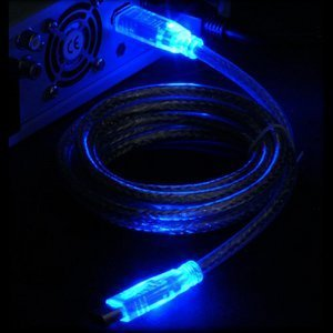 Sharkoon Luminous FireWire cable (various colours)