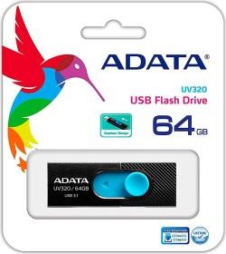 ADATA UV220 16GB, USB-A 2.0 schwarz/blau (AUV220-16G-RBKBL)