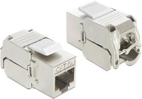DeLOCK Keystone module RJ-45 socket/installation cable Cat6a (86205)