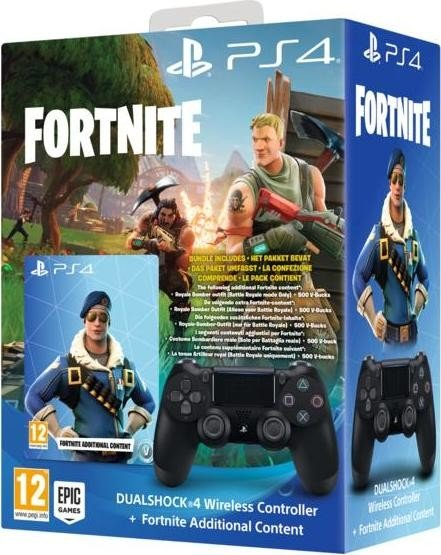 Sony Dualshock 4 2 0 Controller Wireless Schwarz Fortnite Bundle