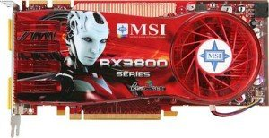 MSI RX3870-T2D512E, Radeon HD 3870, 512MB GDDR4, 2x DVI, TV-out, PCIe 2.0