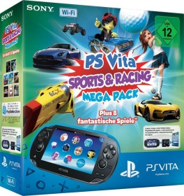 Sony PlayStation Vita Wi-Fi Mega Pack Bundle Sports & Racing schwarz